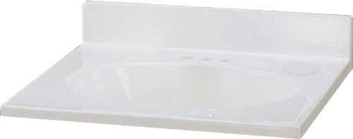 PREMIER� VANITY TOP CULTURED MARBLE, WHITE SWIRL, 25 IN. X 19 IN.