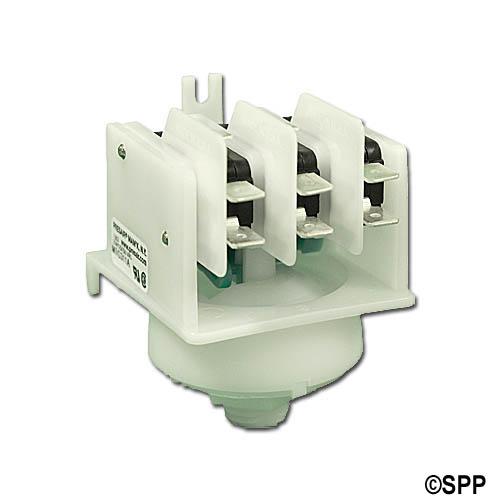 Stepper Switch, Air, Presair, 21A, Green Cam, 4-Function, Center Spout
