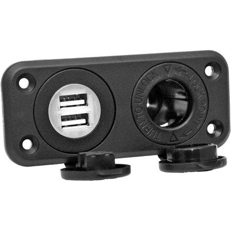 12V RECEPTACLE - DUAL USB
