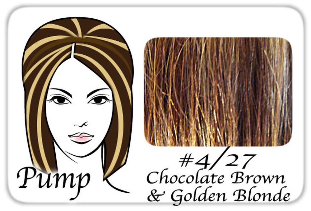 #4/27 Chocolate Brown w/ Golden Blonde Hilights Pro Pump