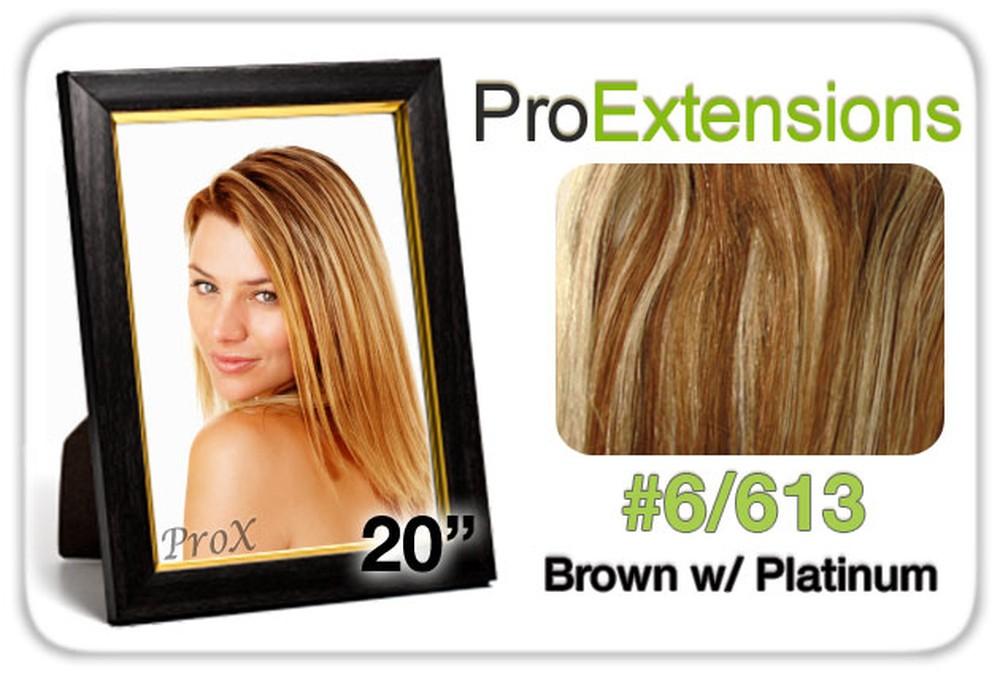 "Pro Lace 20"", #6/613 Chestnut Brown w/Platinum Highlights"
