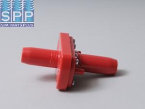 "Ozone Injector, Red,PROZONE,Sm Orifice(2)1/4""B Air,3/4""B Wtr"
