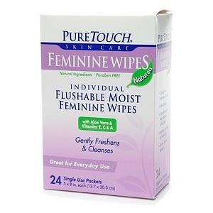 Puretouch Feminine Wipes Flushable (1x24 Wipes)