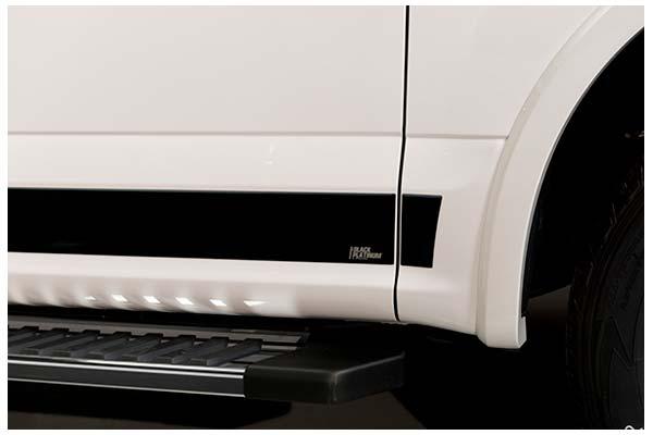 BLACK PLATINUM ROCKER PANELS 2007-2013 GMC SIERRA CREW CAB 5.5 FT BOX 6-IN. WIDE