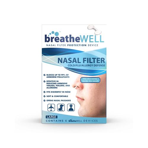 Sleepwell breatheWELL Nasal Filters 6Ct - Large