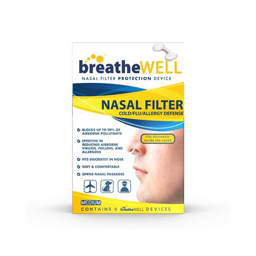 Sleepwell breatheWELL Nasal Filters 6Ct - Medium