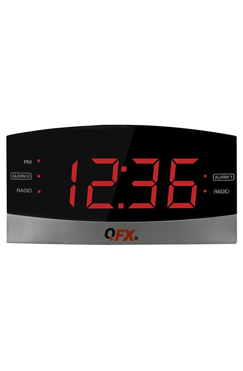 QFX CR36 AM/FM CLOCK RADIO WITH 1.8 INCH LED DISPLAY