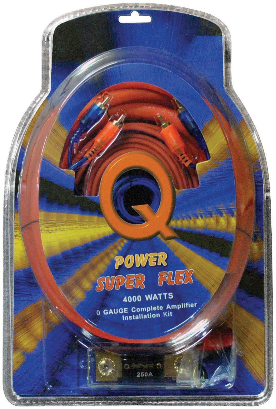 Qpower 0 Gauge Amp Kit Super Flex