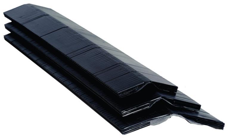 Diversi-Plast 59092 Ridge Vent, 11-1/4 in W x 4 ft Roll L x 5/8 in T, Polyethylene