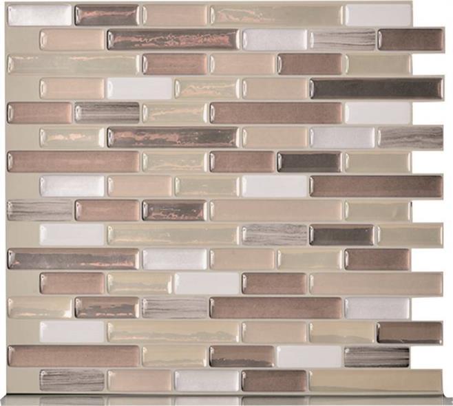 Quinco SM1053-6 Wall Tile, 10.2 in L x 9.1 in W x 3/4 in T, Durango