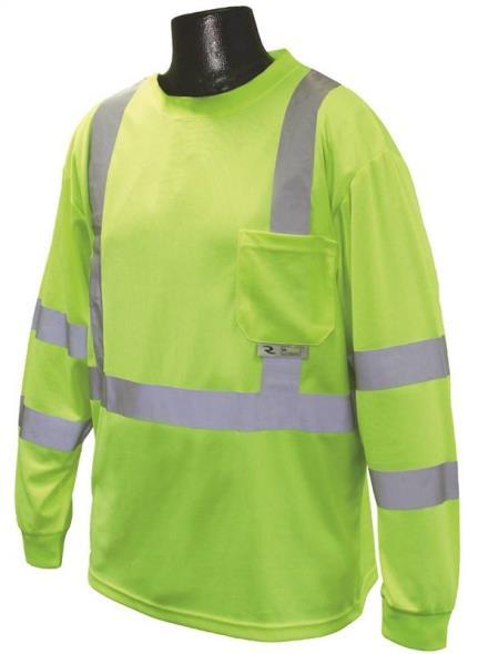 Radians ST21-3PGS-2X Long Sleeve T-Shirt, 2X-Large Unisex, 100% Polyester Birds-Eye Mesh