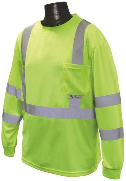 Radians ST21-3PGS-XL Long Sleeve T-Shirt, X-Large Unisex, 100% Polyester Birds-Eye Mesh