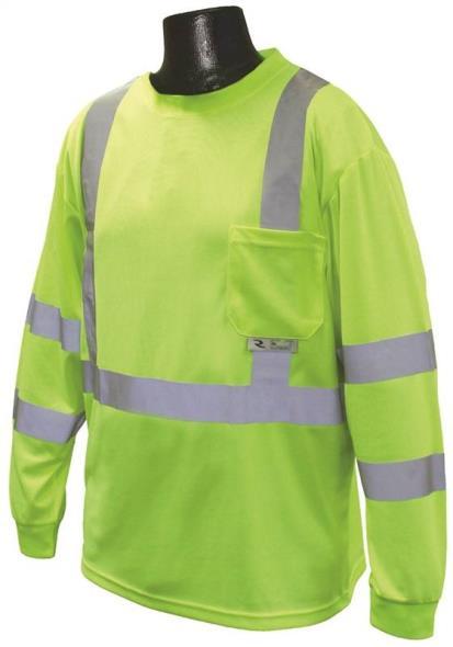 Radians ST21-3PGS-L Long Sleeve T-Shirt, Large Unisex, 100% Polyester Birds-Eye Mesh