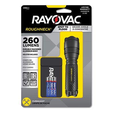 LED Aluminum Flashlight, 3 AAA Batteries (Included), Black