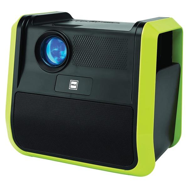 RCA RPJ060-NEON/GRAPHITE Portable 480p Projector Entertainment System (Neon/Graphite)