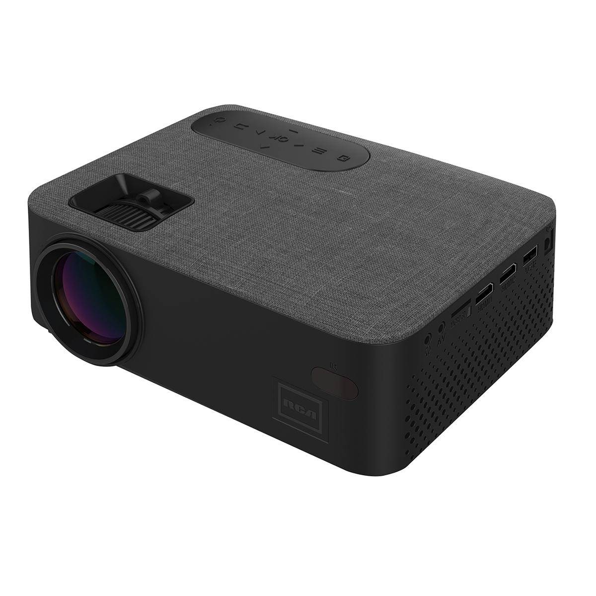 RCA 45 ANSI/480P/2-HDMI-USB/TF/AV/VGA BK