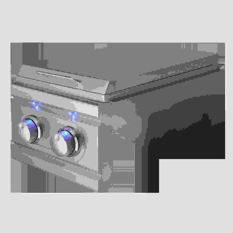 Cutlass Pro Double Side Burner, Slide-in W/Blue LED-Propane