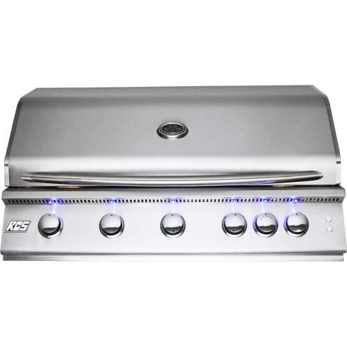 "40"" Premier Grill, Blue LED W/Rear Burner-Propane"