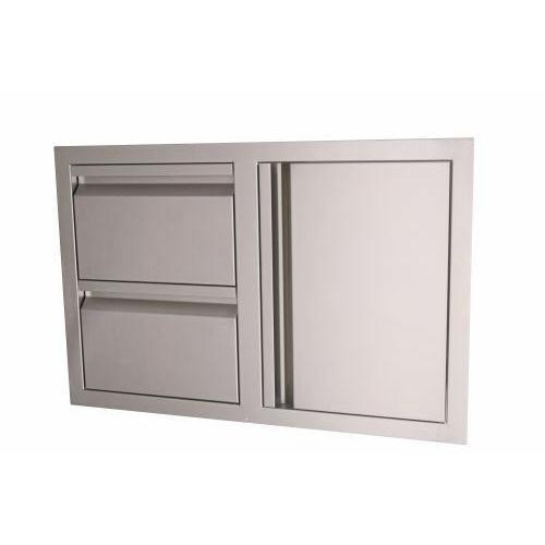 Valiant Stainless Double Drawer/Door Combo