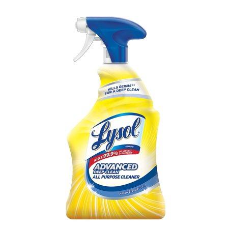Advanced Deep Clean All Purpose Cleaner, Lemon Breeze, 32 oz Trigger Spray Bottle