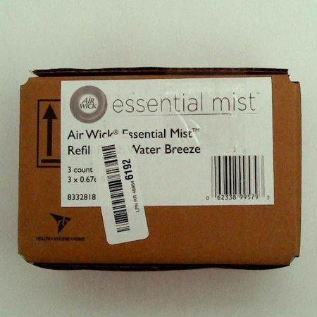 Essential Mist Refill, Fresh Water Breeze, 0.67 oz Bottle, 3/Pack