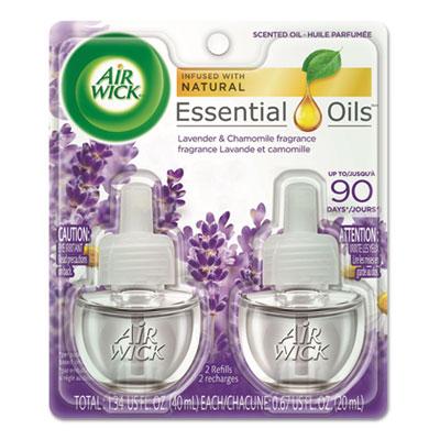Scented Oil Refill, Lavender & Chamomile, 0.67 oz, 2/Pack