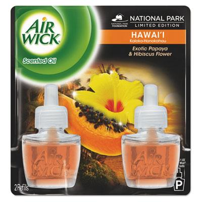Scented Oil Twin Refill, Hawaiian Tropical Sunset, 0.67oz Bottle, 6/Carton