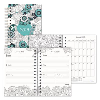 Doodleplan Weekly/Monthly Planner, 8 x 5, Botanica