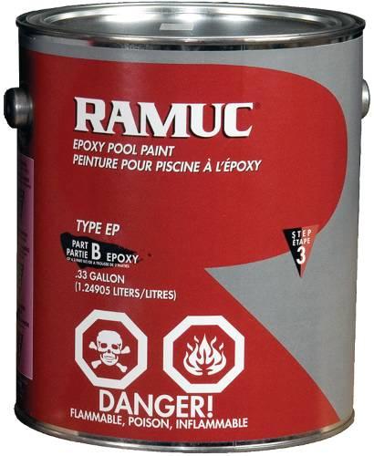 RAMUC EPOXY POOL PAINT KIT DAWN BLUE 1 GALLON