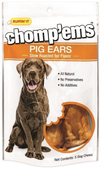Rhode Island 05192 Ruffin?It ? Chomp?Ems Pig Ears, 5 Count