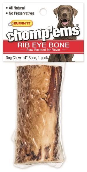 Rhode Island 75199 Ruffin?It ? Chomp?Ems Dog Bones, Rib Eye, 4 In