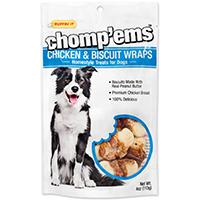 Rhode Island 8185 Ruffin? It ? Chomp?Ems Dog Treats, Chicken and Biscuit Wraps, 4 Oz