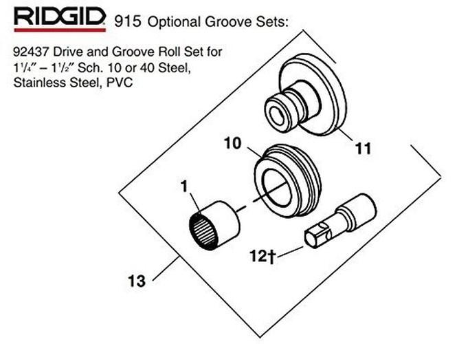1-1/4 - 1-1/2 Steel RL Set 92437