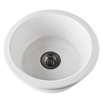 18 0 Hole Round Fireclay Sink *ALLIA White