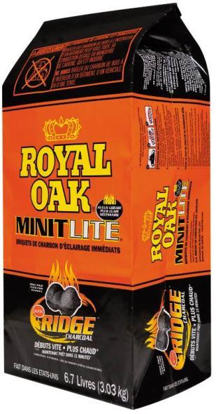 Royal Oak 198-210-229 Minit Lite Charcoal, 6.7 lb Bag
