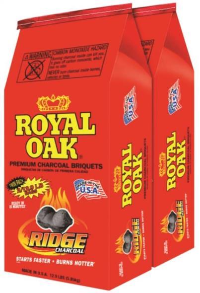 Royal Oak 192-294-116 Charcoal Briquet, 12.9 lb Bag