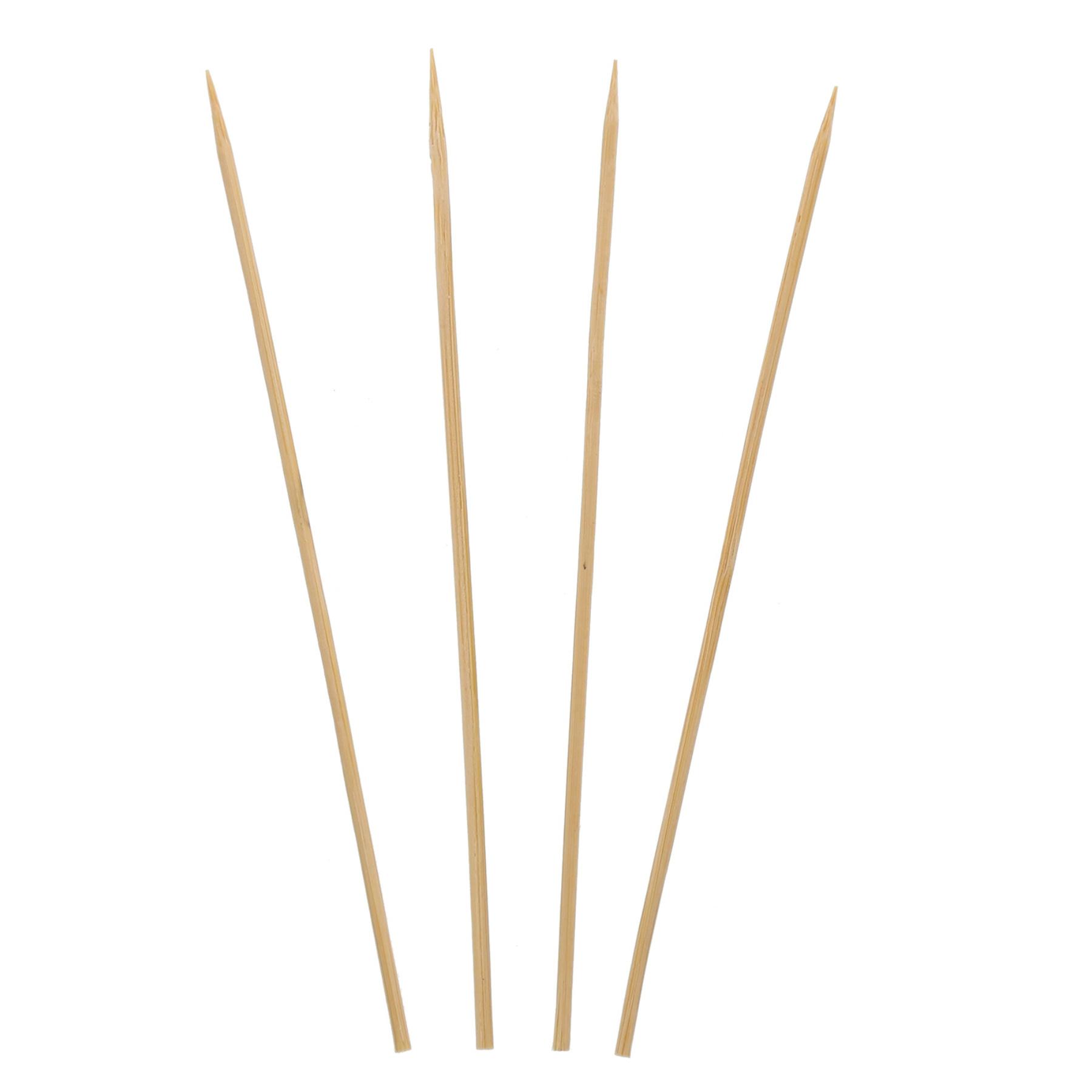 "Bamboo Skewers, 6"", Natural, 100/Pack"