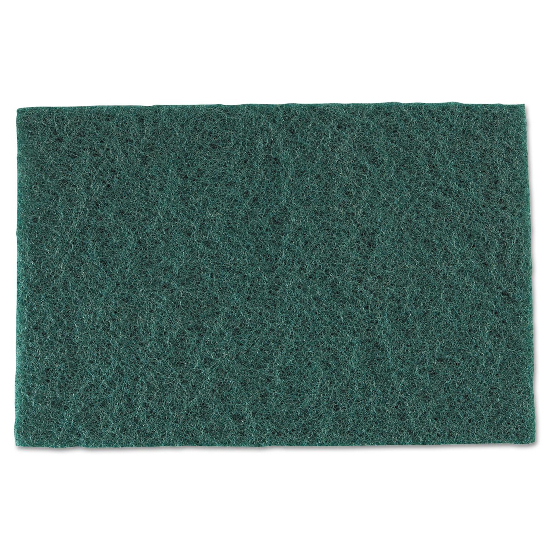 Medium-Duty Scouring Pad, 6 x 9, Green, 60/Carton