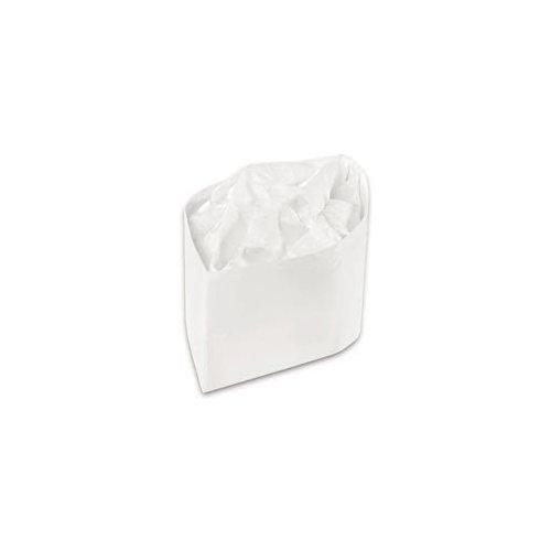 Classy Cap, Crepe Paper, White, Adjustable, One Size, 100 Caps/Pk, 10 Pks/Carton