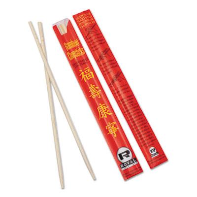 """Chopsticks, Bamboo, 9"""", Natural, 1000/Carton"""