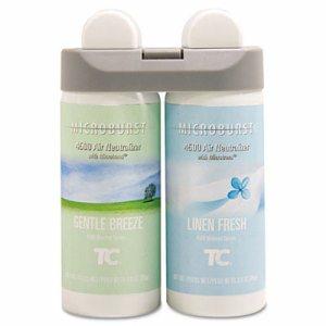 Microburst Duet Refills, Gentle Breeze/Linen Fresh, 3oz, 4/Carton