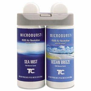 Microburst Duet Refills, Sea Mist/Ocean Breeze, 3oz, 4/Carton