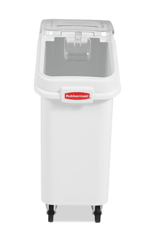 ProSave Mobile Ingredient Bin, 20.57gal, 13 1/8w x 29 1/4d x 28h, White