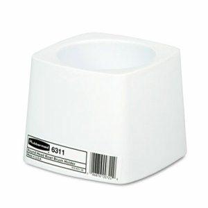 Holder for Toilet Bowl Brush, White Plastic