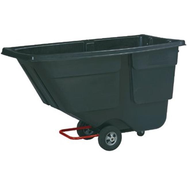 Rotomolded Tilt Truck, Rectangular, Plastic, 600lb Cap, Black