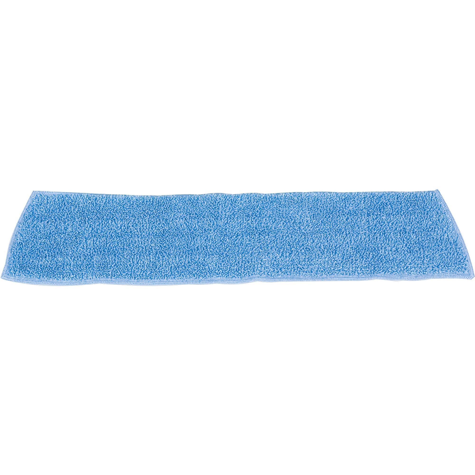 "Economy Wet Mopping Pad, Microfiber, 18"", Blue"