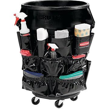 Brute Caddy Bag, 12 Pockets, Black, 6/Carton