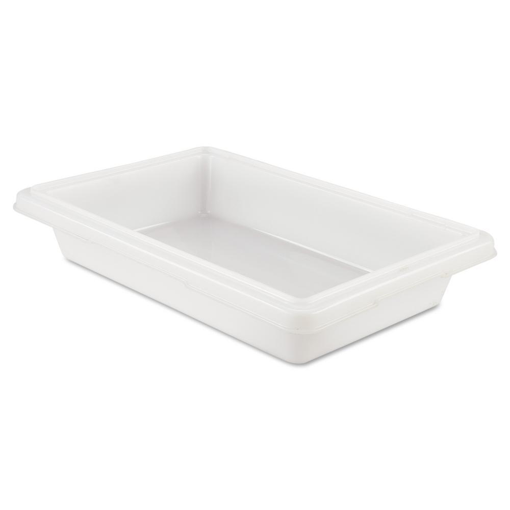 Food/Tote Boxes, 2gal, 18w x 12d x 3 1/2h, White