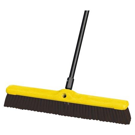 """Heavy Duty Floor Sweep, 24"""" x 3"""", Maroon, Polypropylene, 12/Carton"""