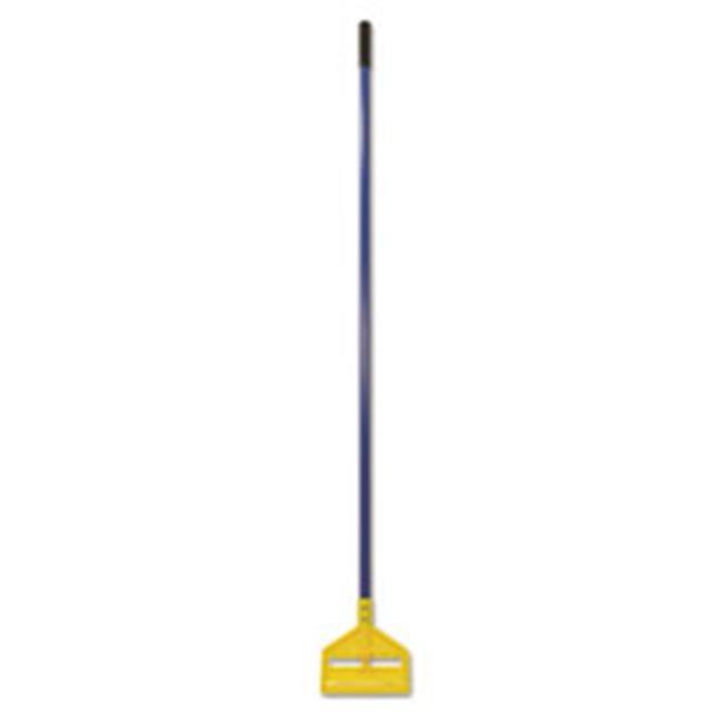 """Invader Fiberglass Side-Gate Wet-Mop Handle, 60"""", Blue/Yellow"""